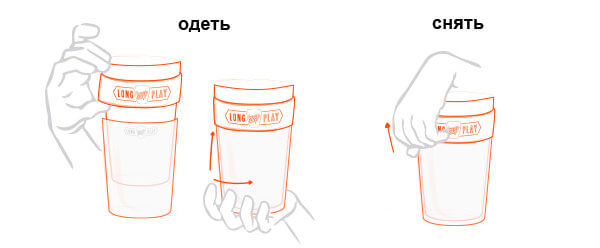 Інструкція до Keep Cup Brew Long Play Lavender M