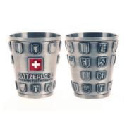 Металевий кубок 80 мл з кантональним гербом Швейцарії / 75-0021: фото 2