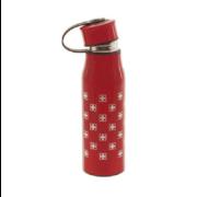 Термос пляшка металева червона 0,430 л з хрестами Швейцарії / 75-0275: фото 1