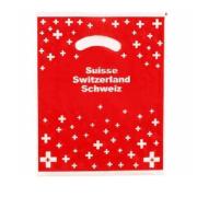 Мішок пластиковий червоний з хрестиком СН малий /  72-0201: фото 1