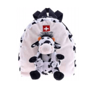 Плюшевий чорно-білий рюкзак з коровою / 73-0323: фото 2