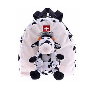 Плюшевий чорно-білий рюкзак з коровою / 73-0323