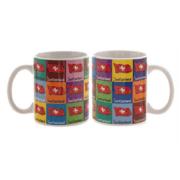Керамічна чашка з зображеннями прапора Швейцарії / 78-1132: фото 1