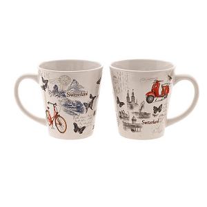 Чашка з дизайном листівки міста / 78-0015
