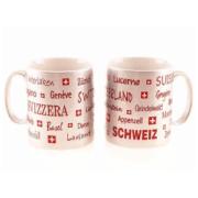 Срібляста чашка з написами місць Швейцарії / 78-0977: фото 1