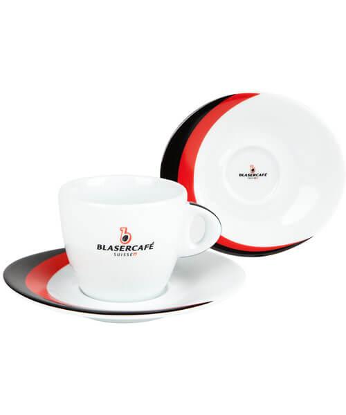 Сервиз Blasercafe Rosso Nero для капучино