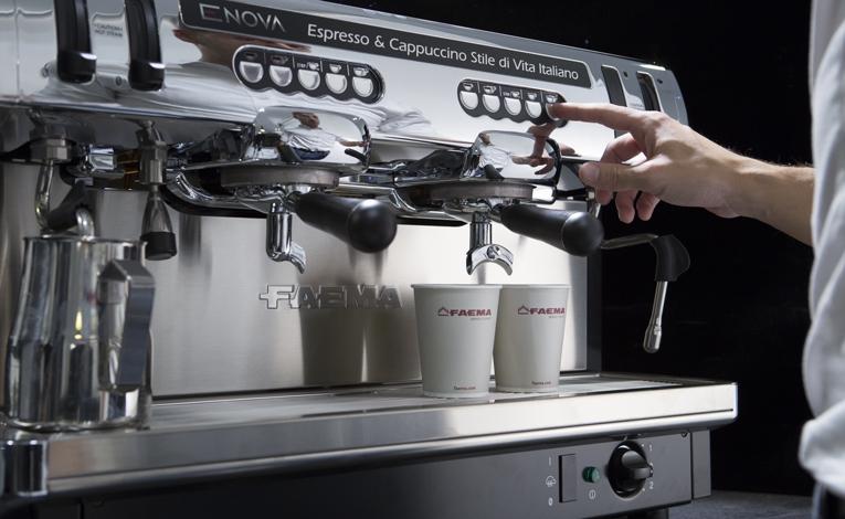 FAEMA ENOVA/A-2 приготовление кофе