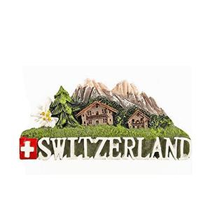 Магнит «Шале» с надписью Швейцария