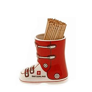 Набор для зубочисток, красно-белый ботинок
