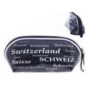 Косметичка черно-белая  с надписью Швейцария: фото 2