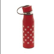 Термос бутылка металлический красный 0,430 л с крестами Швейцария: фото 1