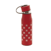 Термос бутылка металлический красный 0,430 л с крестами Швейцария: фото 2