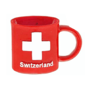 Магнит чашка красная с крестом CH: фото 2