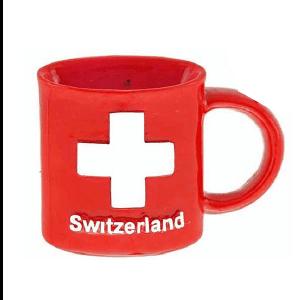 Магнит чашка красная с крестом CH