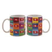 Керамическая чашка с изображением флага Швейцарии: фото 1