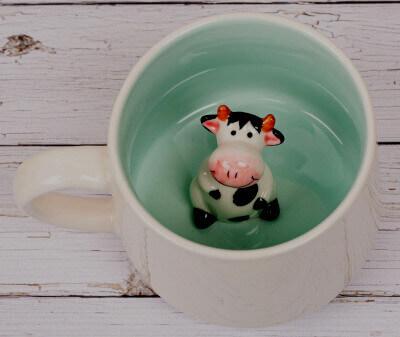 Чашка с коровой внутри